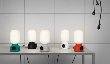 La lámpara de diseño que te permite cargar tus gadgets