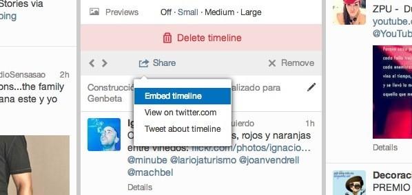 compartir timeline tweetdeck personalizado