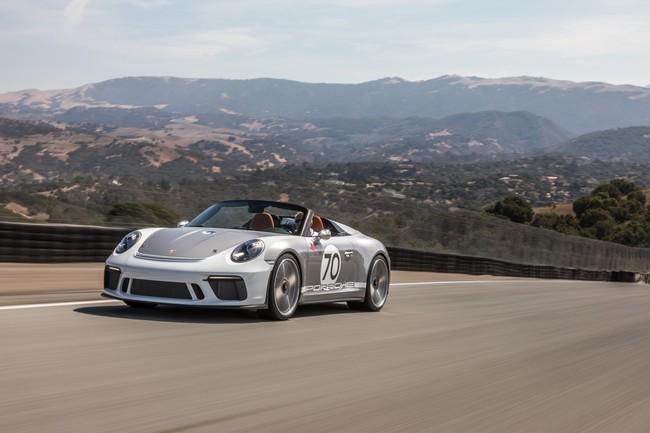 Porsche llevó el 911 Speedster Concept al Rennsport Reunion VI en California