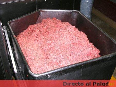 Carne picada preparada para hacer hamburguesas