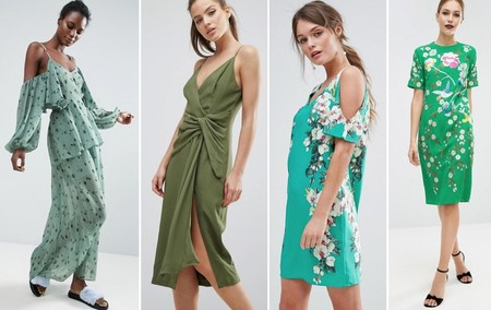 Vestidos Verde Verano 2017 2
