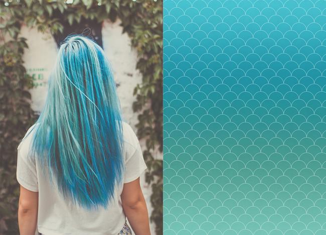 Blue Mermaid Hair Design