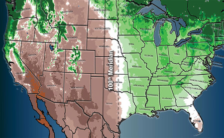 """El cambio climático está provocando que el """"oeste"""" estadounidense se desplace hacia el este"""