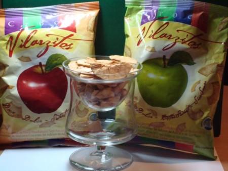 Manzana deshidratada como snack saludable. La hemos probado