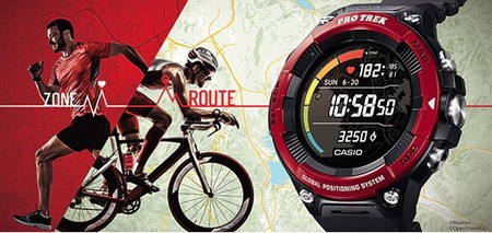 Nuevo Casio PRO TREK WSD-F21HR, un reloj deportivo con Wear OS y pantalla dual: parte a color y parte monocromática