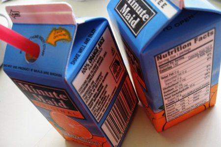 Los zumos comerciales no podrán llevar azúcares añadidos