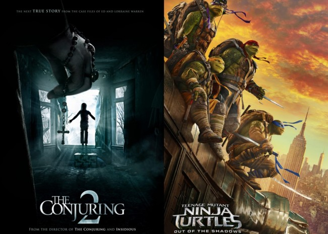 The Conjuring 2 y Ninja Turtles 2