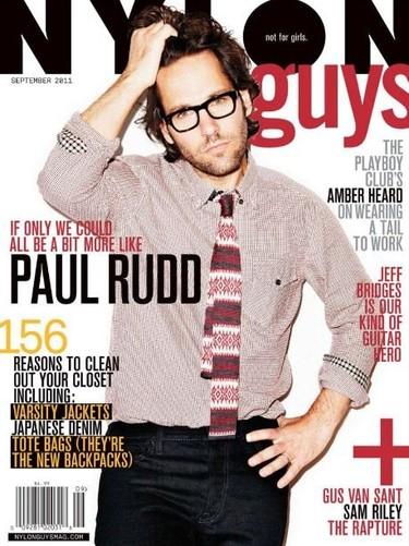 Y otro 'september issue' más; Paul Rudd en la portada de Nylon Guys