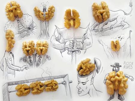 Víctor Nunes y los alimentos que cobran vida en sus ilustraciones