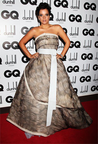 El fantástico estilo de Lily Allen para los premio GQ