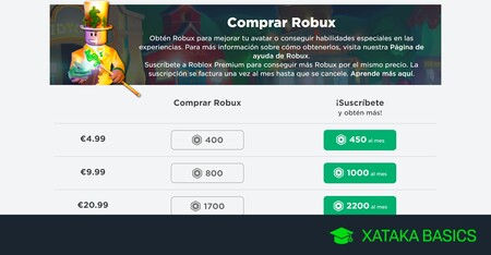 Cómo comprar Robux en Roblox
