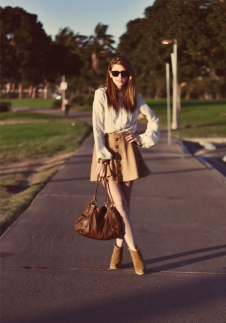 Falda beige  universidad