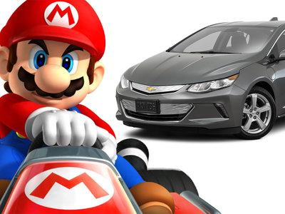 Cosas absurdas que molan mil, como usar un Chevrolet Volt para jugar al Mario Kart