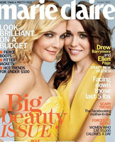 Drew Barrymore y Ellen Page se besan en Marie Claire