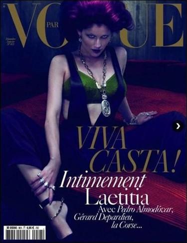 Laetitia Casta vuelve con una portada en Vogue París