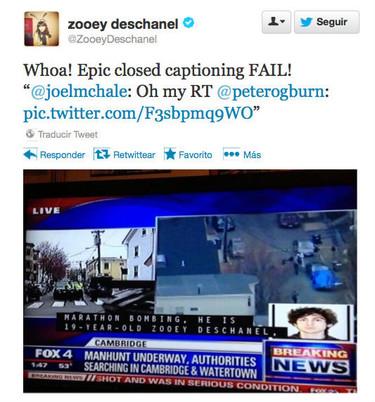 Zooey Deschanel, la terrorista... o más bien no