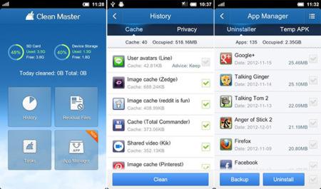 Capturas de pantalla de Clean Master para Android