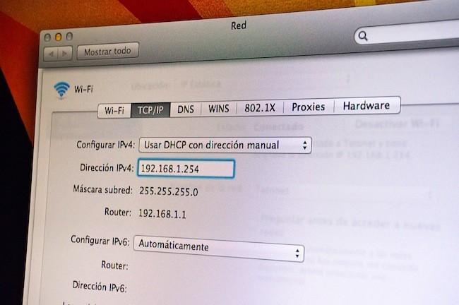 Cómo poner IP fija en Mac