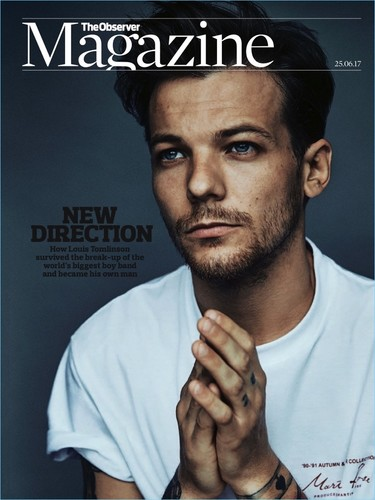 El tercero en salir de One Direction, Louis Tomlinson, en la portada de la revista The Observer