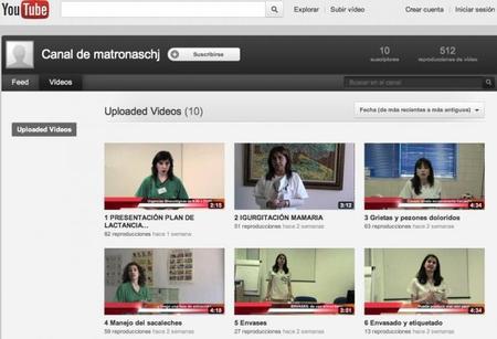 Un canal de Youtube con consejos de matronas y pediatras sobre lactancia
