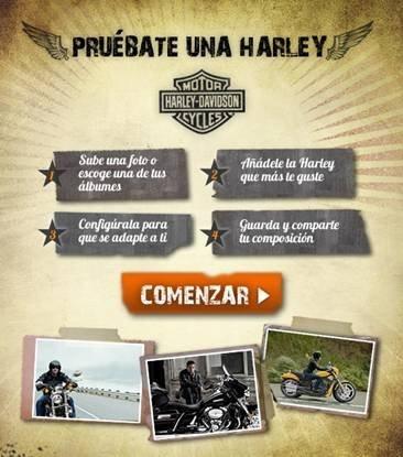 Pruébate una Harley Davidson en Facebook