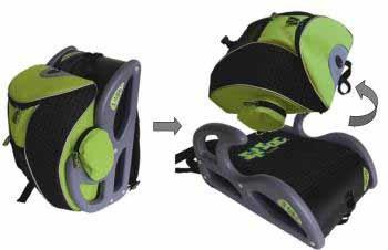 La mochila que se convierte en silla de coche