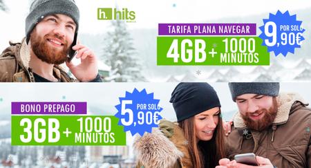 Hits Mobile reaviva la guerra de tarifas por debajo de 10 euros, incluyendo 1.000 minutos y hasta 4 GB