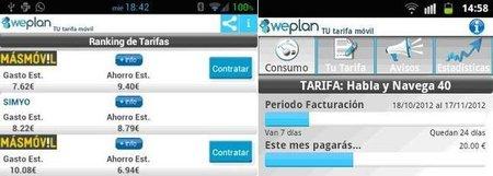 Weplan, una aplicación española que te busca lo más económico en tarifas para móviles