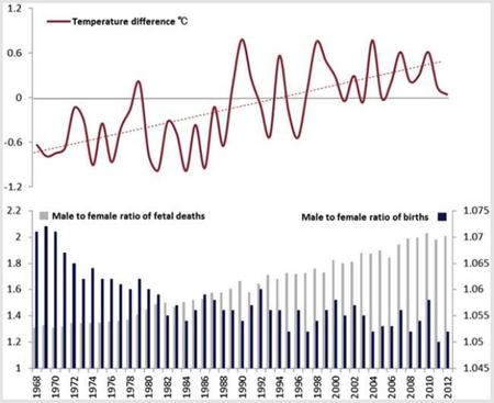 ¿El cambo climático está propiciando que nazcan menos hombres y más mujeres?