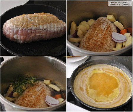 Redondo De Pavo Y Manzana Receta De Cocina Fácil Sencilla Y Deliciosa