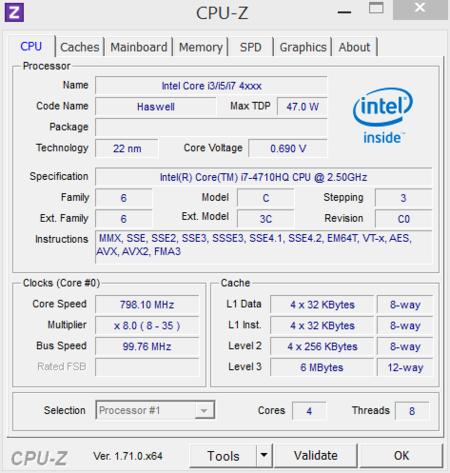 MSI GS60 CPUz