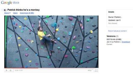 Google Docs ahora reproduce vídeo