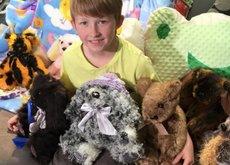 Campbell Remess solo tiene 12 años, pero dedica su tiempo libre a coser osos de peluche para los niños enfermos