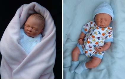 Las esculturas de bebés de Camille Allen