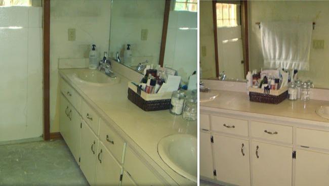 Mueble Baño Original:Antes y después: un baño completamente transformado por 200 euros