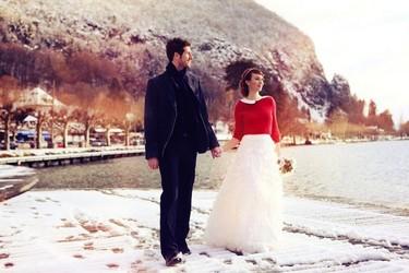 Una boda de cuento de hadas en pleno invierno