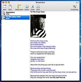 WriteInOne: Pequeño editor de textos multiuso