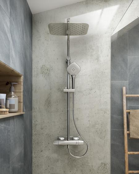 La grifería de ducha Idealrain Evo Jet Diamond, premio de Diseño Red Dot por su novedoso sistema de rociado