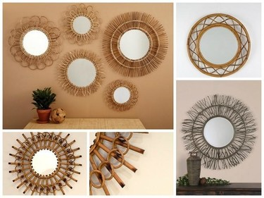 Tras el espejo sol de metal, llega la moda de los espejos de fibra vegetal