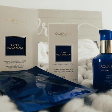 Las nuevas emulsiones y mascarillas de la línea Super Aqua de Guerlain son buenísimas para tener una piel hidratada todo el tiempo