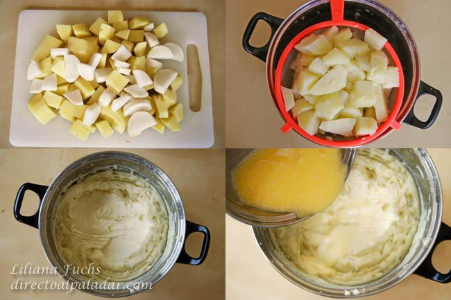 Puré cremoso de patatas y nabo. Pasos