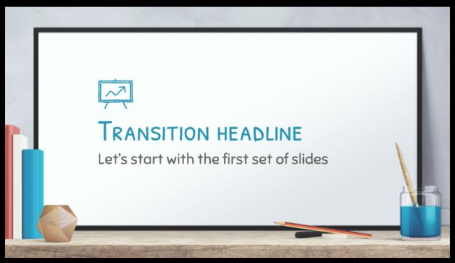 Free Presentation Template Whiteboard Realistic Design
