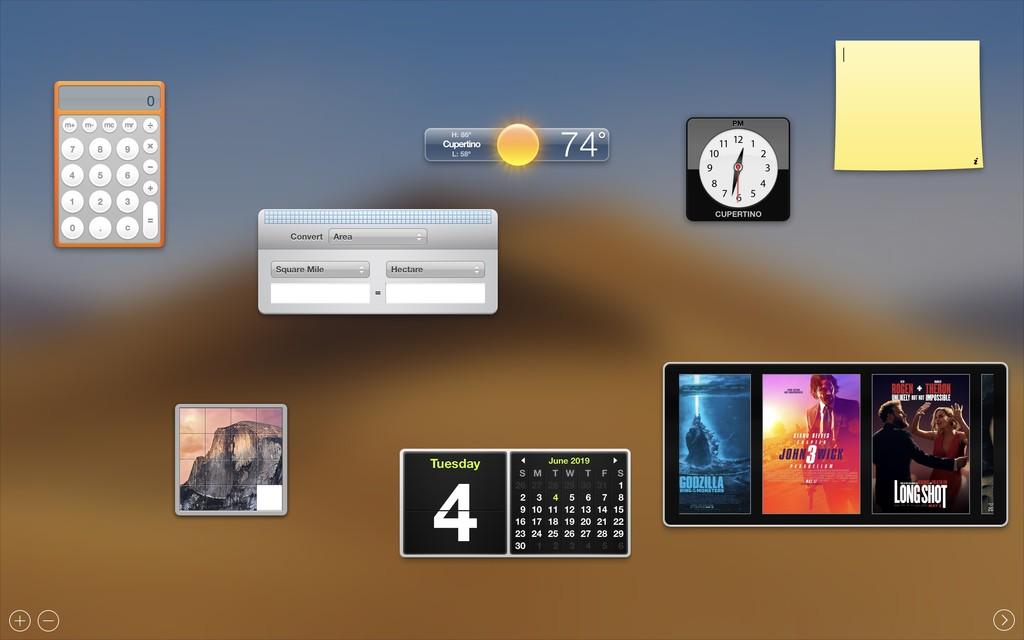 macOS Catalina ha matado oficialmente al Dashboard, símbolo de macOS desde hace mas de alguna década