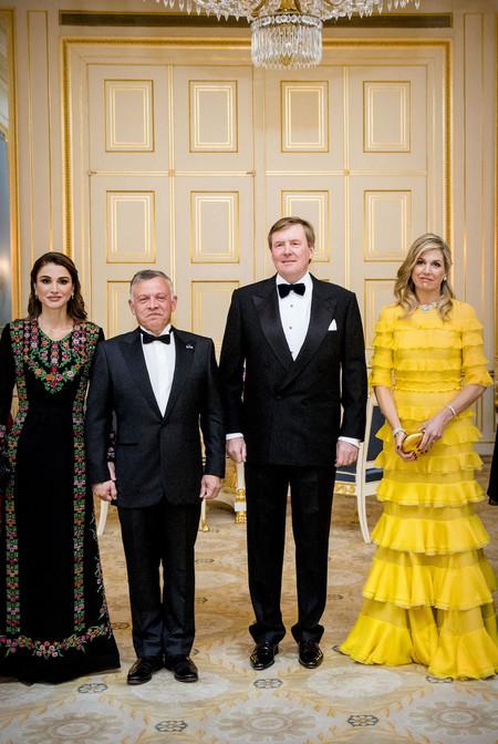 Maxima De Holanda Y Rania De Jordania Vestido Amarillo A