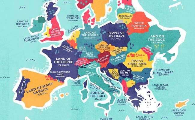 Mapa Nombres Del Mundo