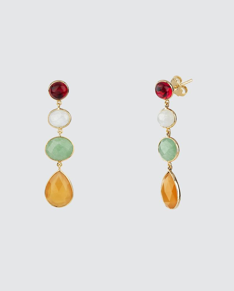 Pendientes Vidal & Vidal Dreams piedras multicolor