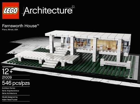 La casa Farnsworth en Lego