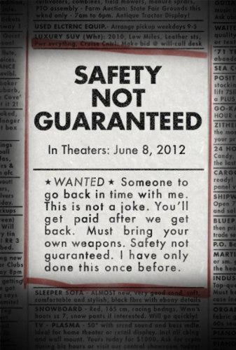 El cartel de Safety Not Guaranteed