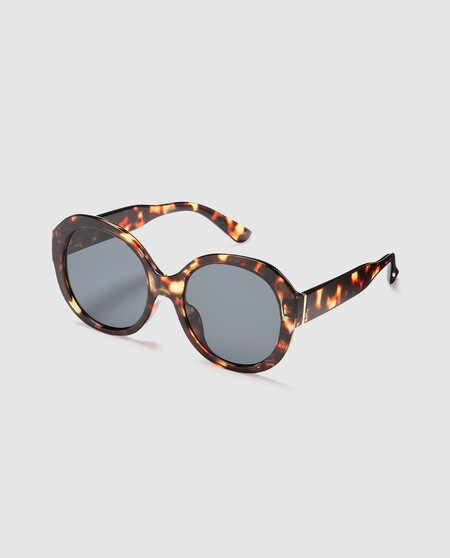 Gafas De Sol De Mujer Jo Mr Joe Redondas Oversize En Tono Havana Oscuro