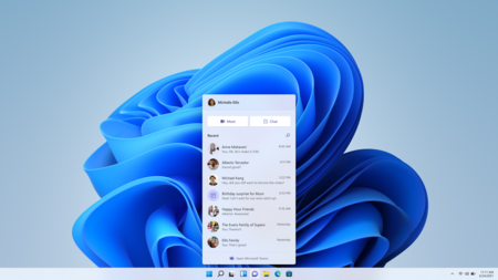Así será Windows con Teams incluido: podrás chatear desde la barra de tareas